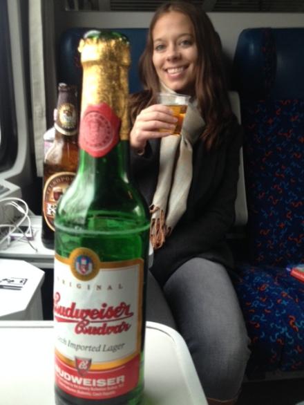 Having drinks en route