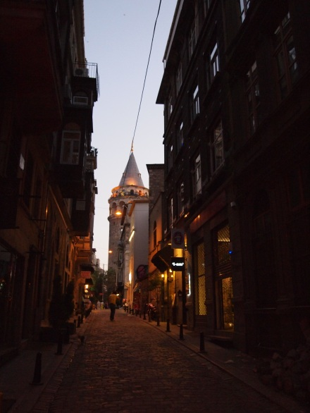 A view of Galata Tower from our street