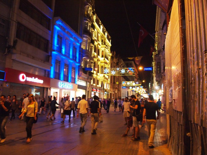 Istiklal Caddesi at night