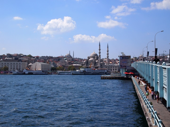 Across the Golden Horn & Galata Bridge