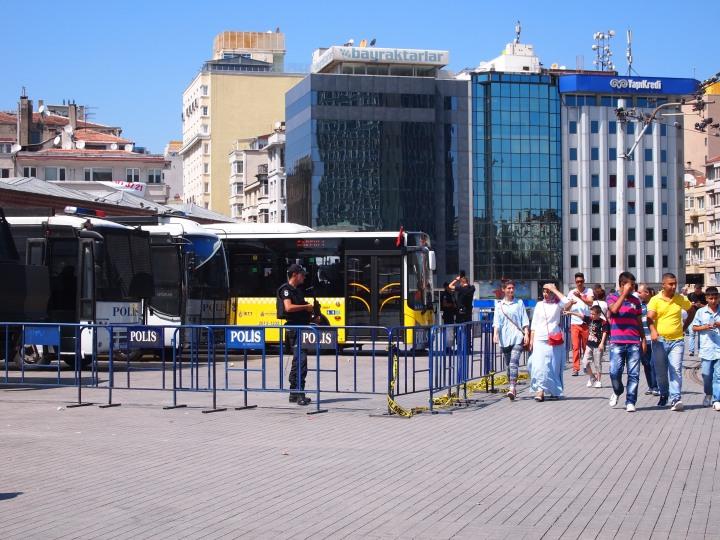 Police presence in Taksim