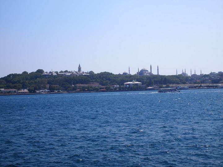 View of Topkapi, Hagia Sophia, & Sultanahmet Mosque