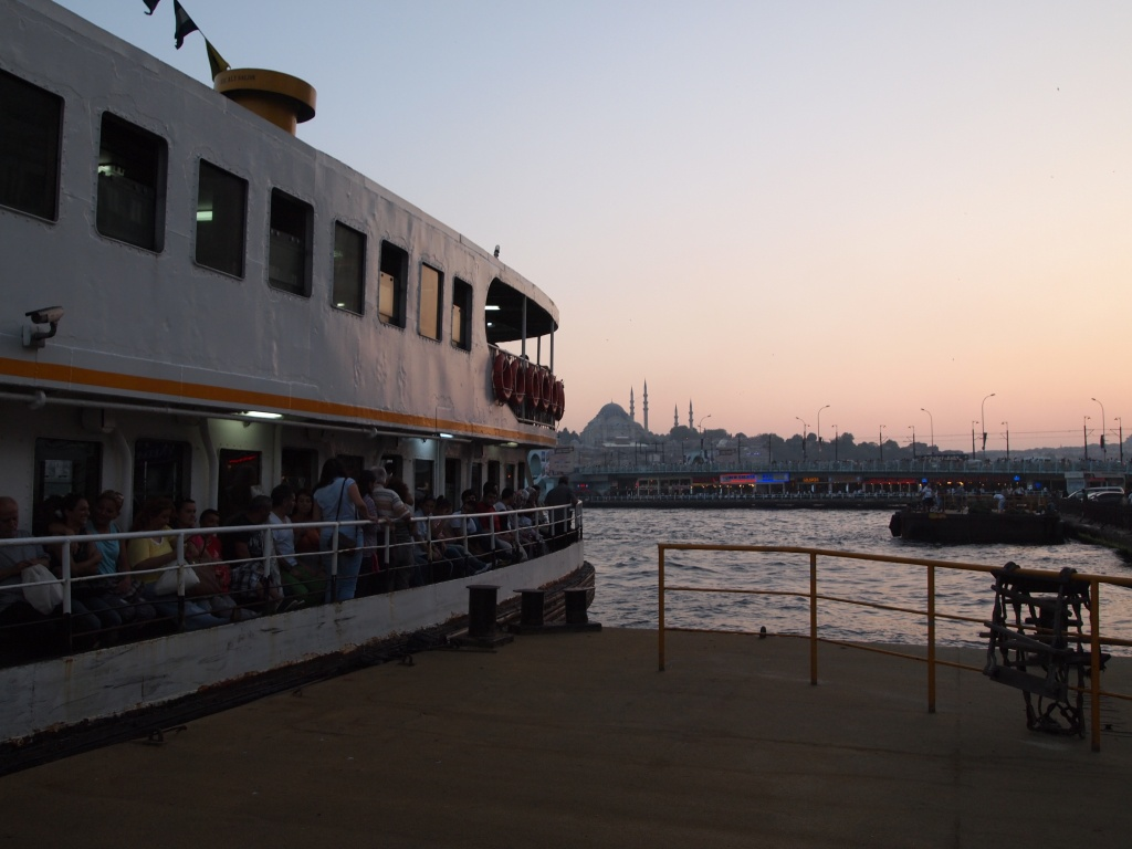 Catching the ferry at Karaköy