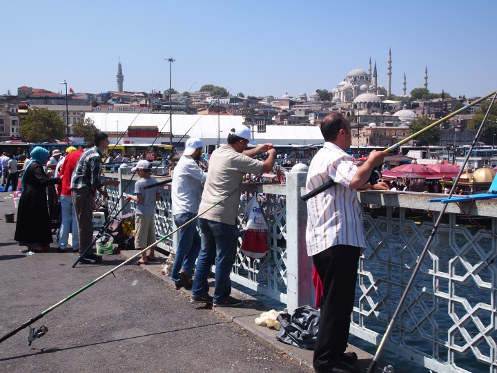 Fishermen on Galata Bridge