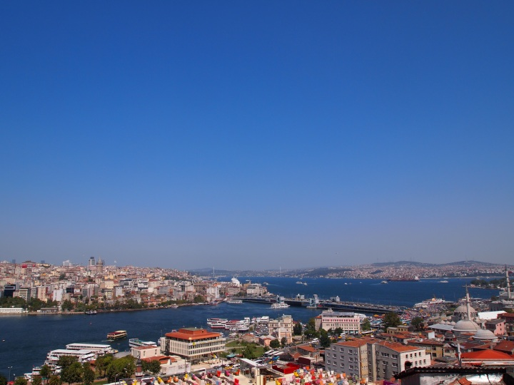 Gorgeous- Galata across the Golden Horn, Kadaköy in the distance