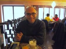 Having breakfast at Mozaik