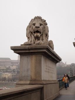 A guardian lion at entrance