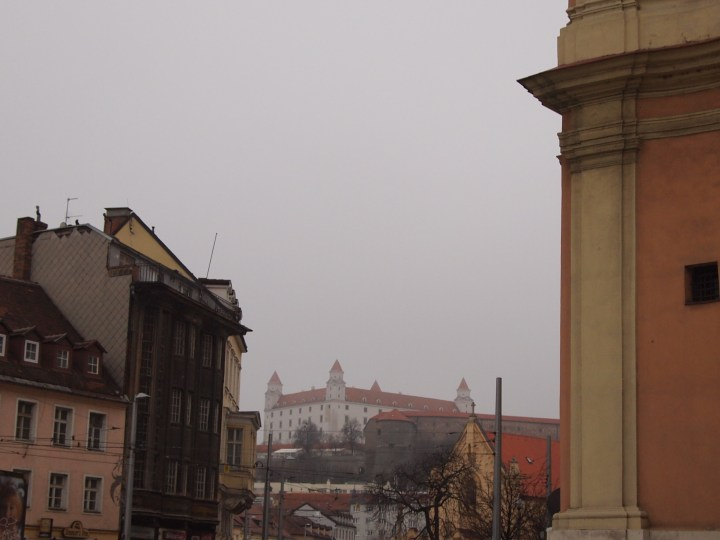 Bratislava Castle above the city centre