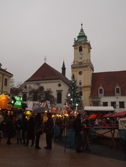Christmas Market before Štúr Cafe