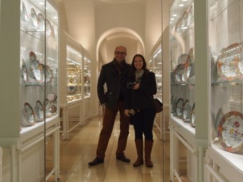 Us with Hapsburg porcelain
