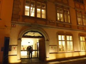 Mozart's apt. was on the first floor; museum entrance is ground level