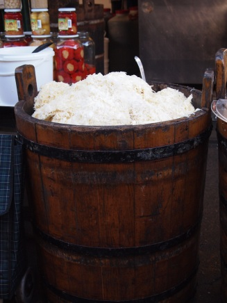 A tub of sauerkraut!