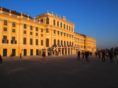 The back of the palace