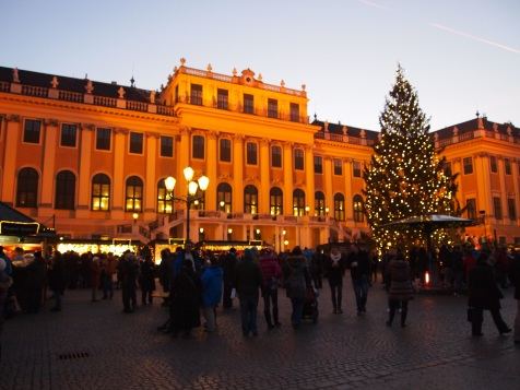 Christkindlmarkt at dusk