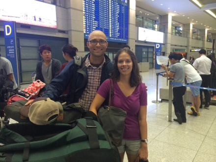 Arrival in Seoul