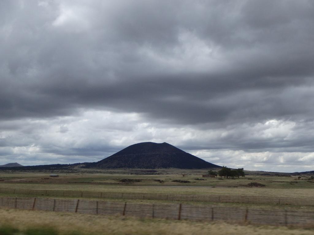Capulin - an extinct cinder cone volcano