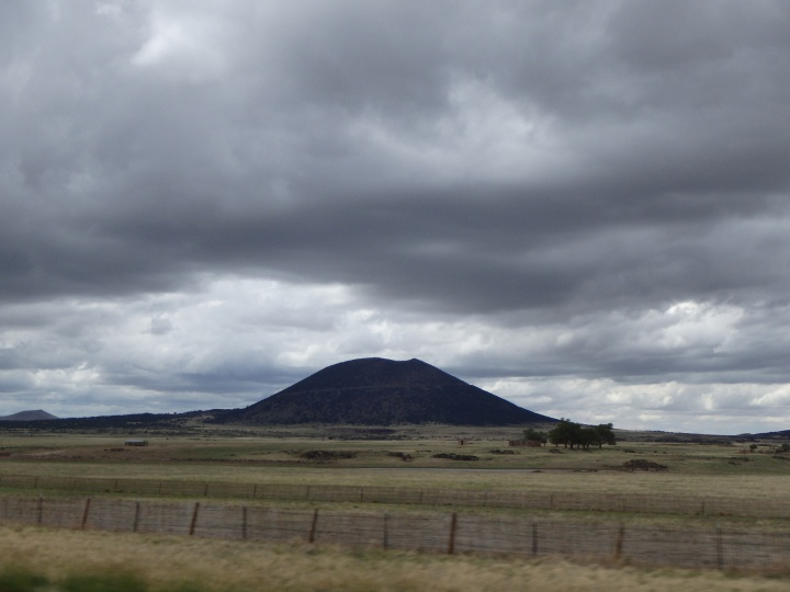 Capulin - an extinct cinder cone volcano
