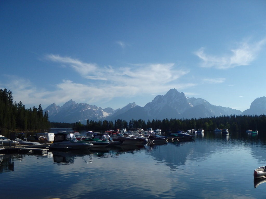 Colter Bay Marina - a brief walk from our campsite