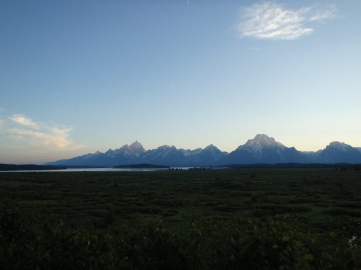Stunning view of the Teton Range from Jackson Lake Lodge