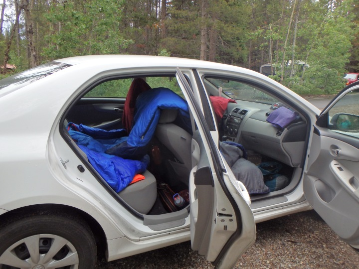 Letting our sleeping bags dry out