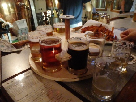 Sampler at Snake River Brewing