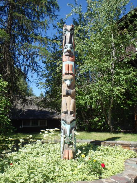 totem poles weren't used by the native tribes in this area but it goes with the decor I guess