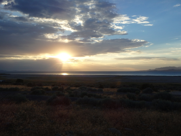 Sunset over Great Salt Lake