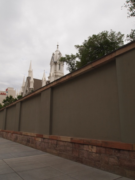 The wall surrounding Temple Square
