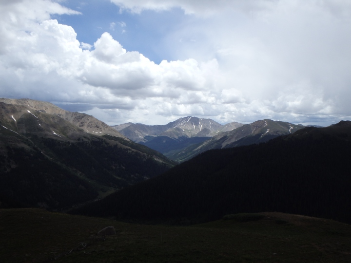 Scenic overlook of Independence Pass