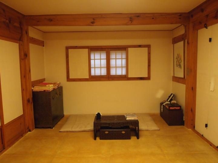 A traditional bedroom - you sleep on the floor