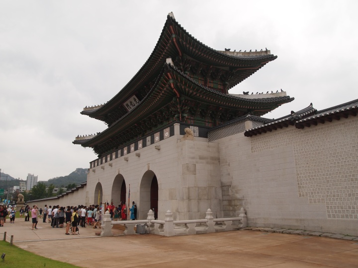 Gwanghwamun Gate is the southern and main gate to Gyeongbokgung
