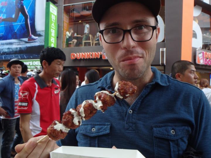 Meat on a stick!