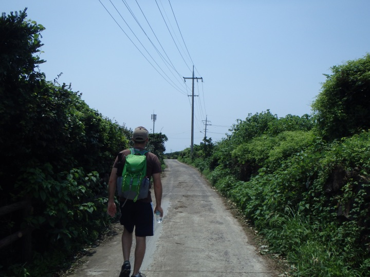 First part of the trail was a road along the coastline