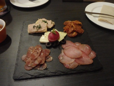 We ordered the Delicatessen Plate - yummmm
