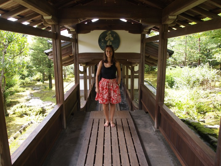 A long wooden walkway led to another small hall
