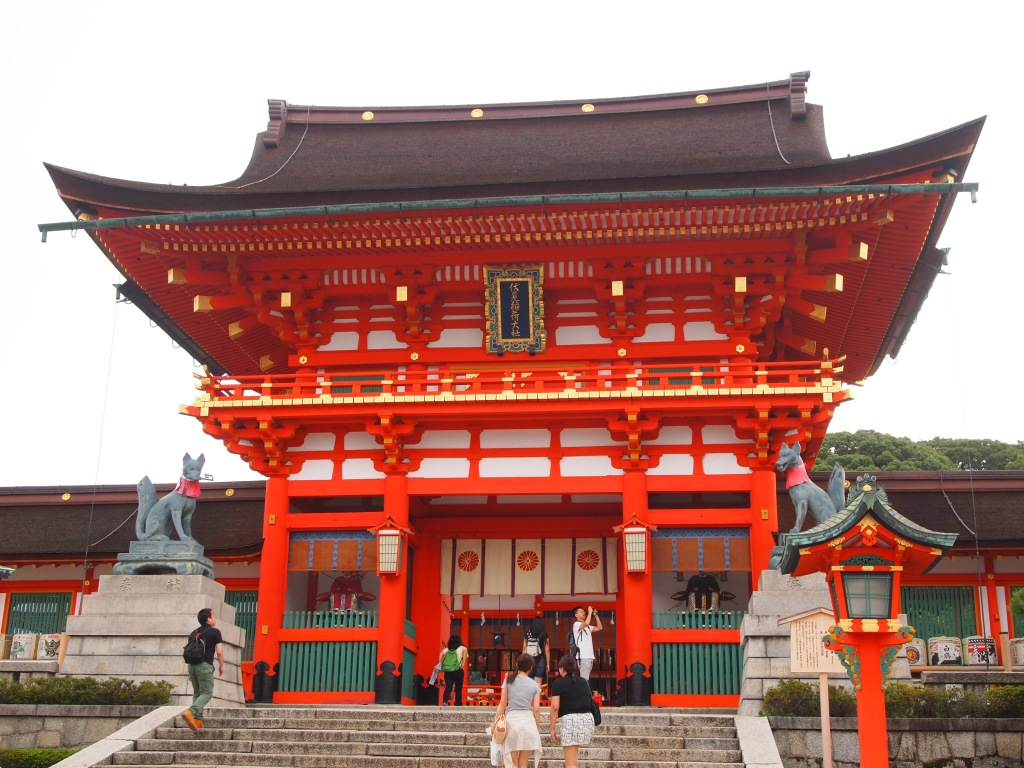 Romon Gate at the shrine's entrance