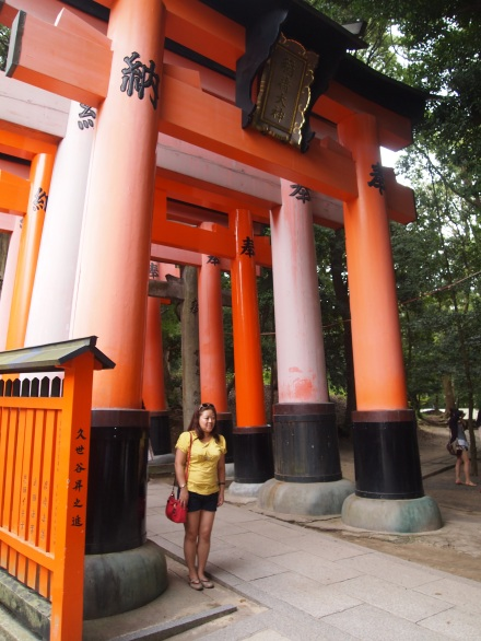 Beginning of the torii gates