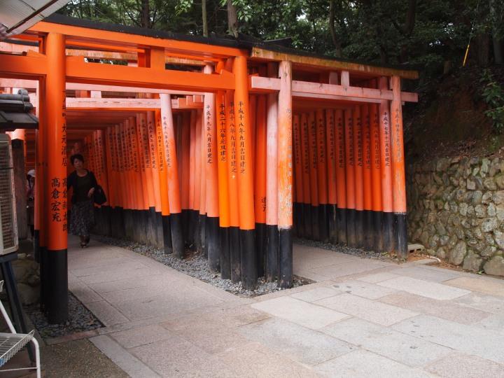 """End of the Senbon Torii - """"thousands of torii gates"""""""