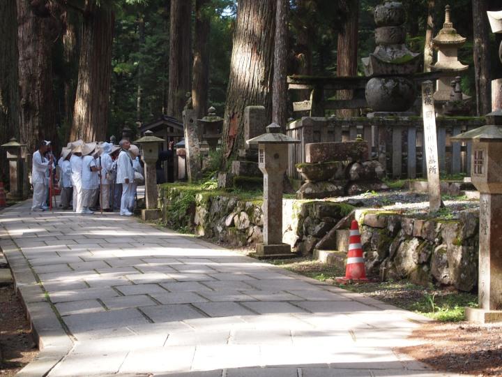 Many pilgrims journey to