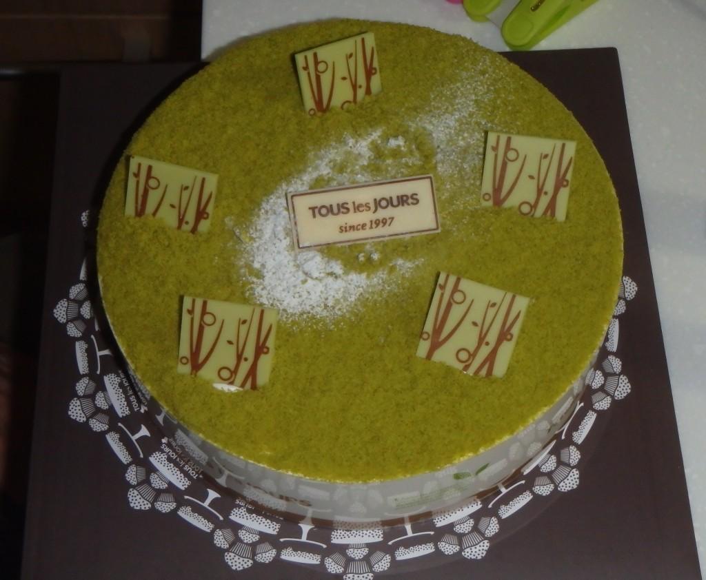 A green tea cake