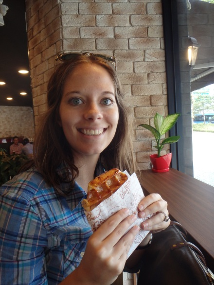 I went classic with a maple waffle - excellent!
