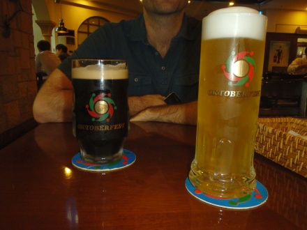 We had a beer at a place called, Oktoberfest. It was alright