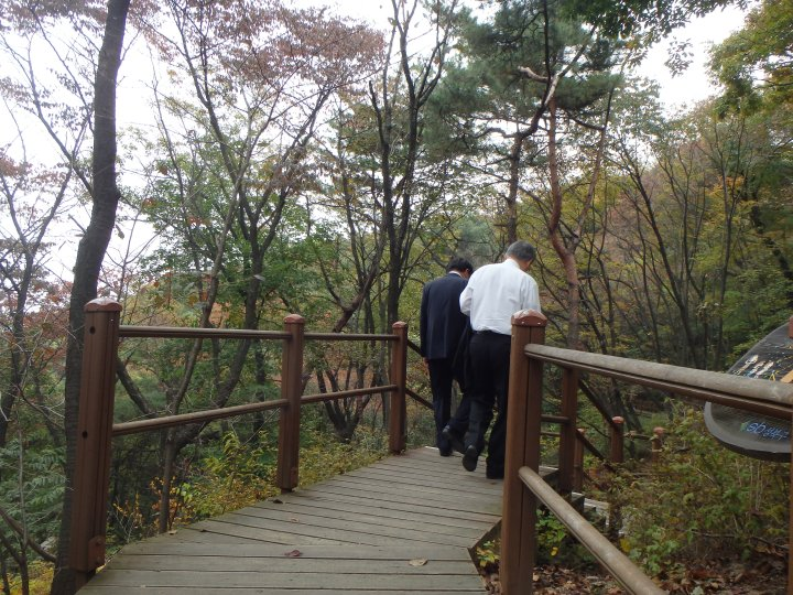 These guys were hiking in suits!