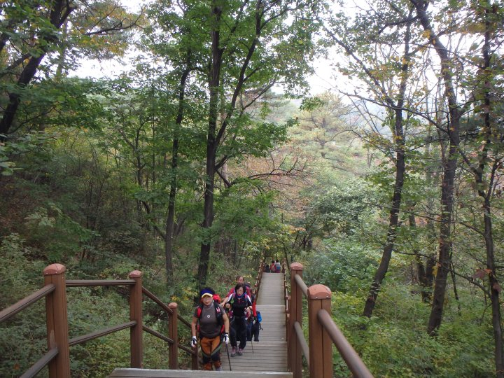 A LOT of older Koreans deck themselves out in hiking gear that is a little unnecessary