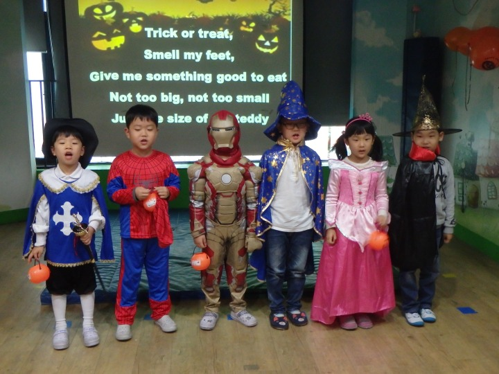 My class singing the Trick or Treat song