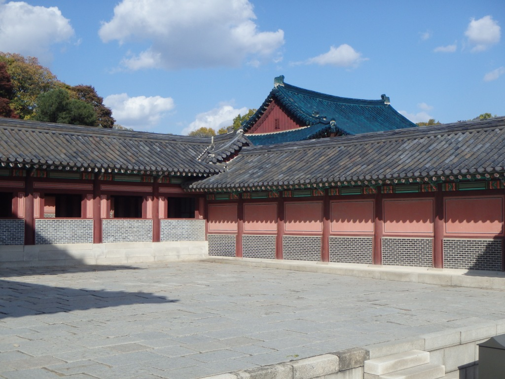 Walking around the palace complex