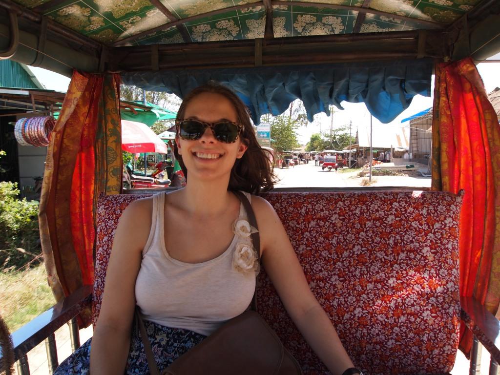 Riding in the tuk tuk