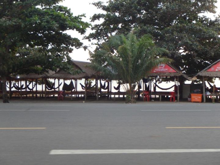 hammocks along the shore