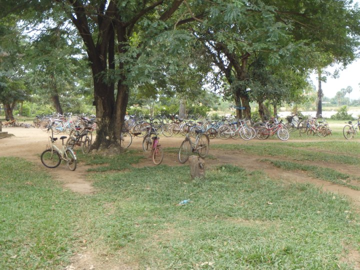 bicycles at the village school