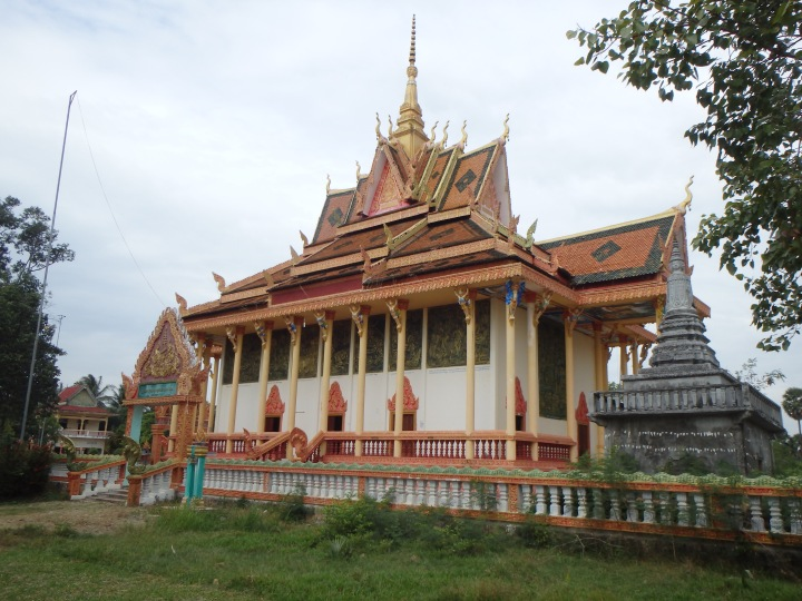 ornate village wat on the Kampot River